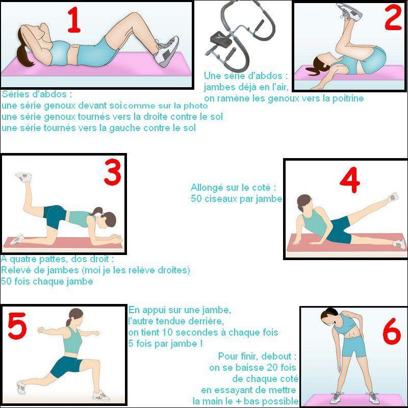exercice gym pour perdre hanches