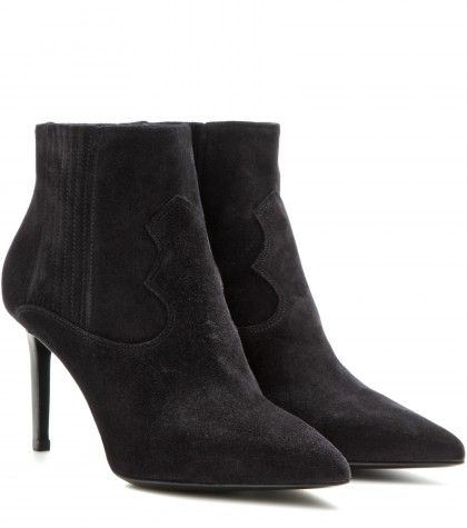 Saint Laurent - Paris suede ankle boots