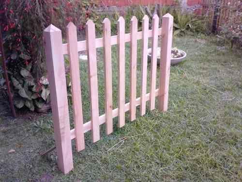 Cerco para jardin madera de eucaliptus 200 00 for Jardin vertical mercadolibre