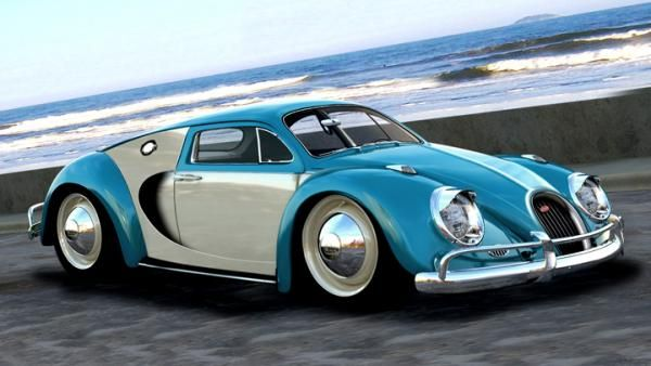 Chopped Hot Rod Shaped Like 45 Bugatti Veyron Classic