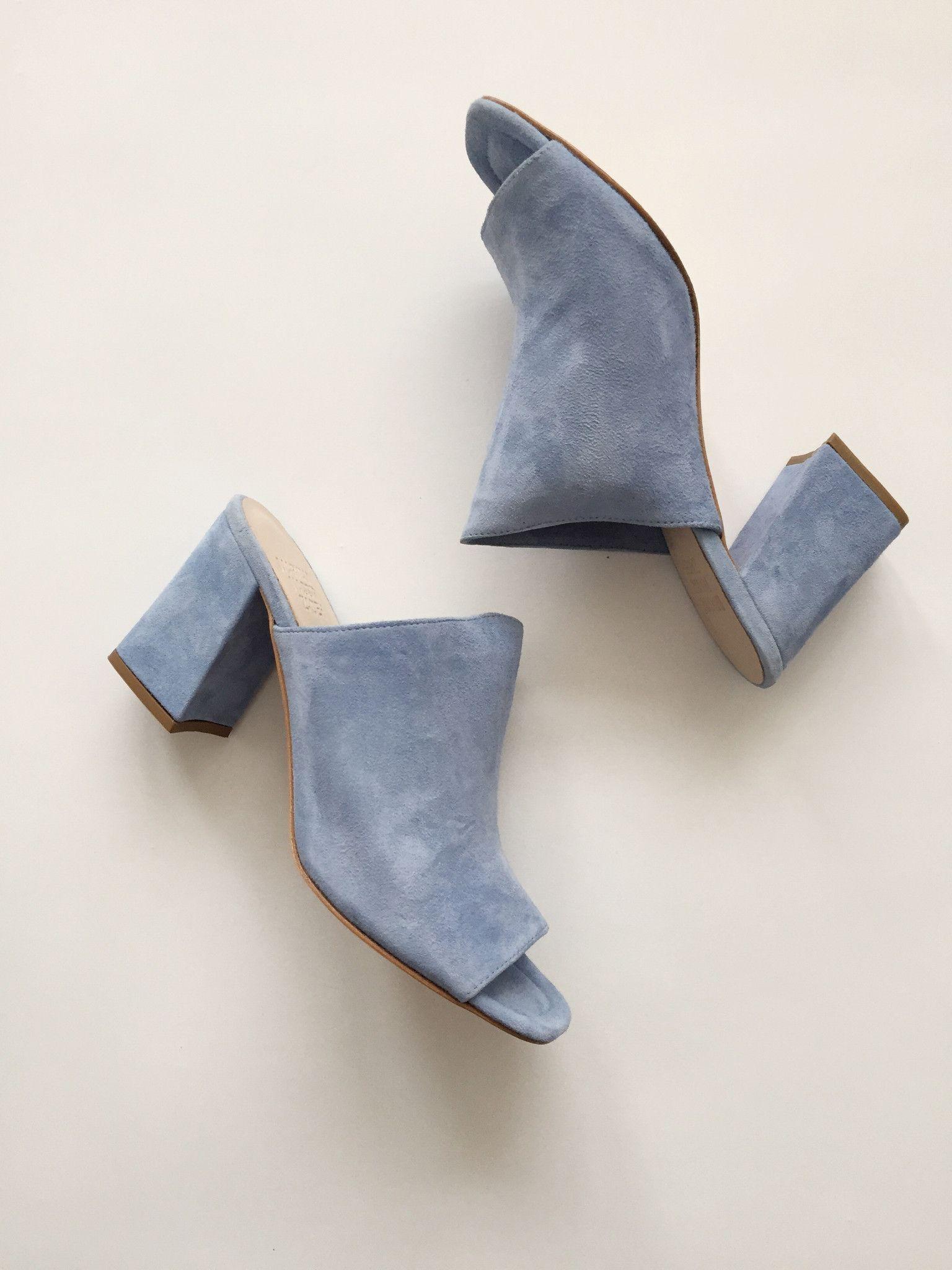 0a7c440a0c64 Maryam Nassir Zadeh Penelope Sandal - Sky Blue Suede Cute Shoes
