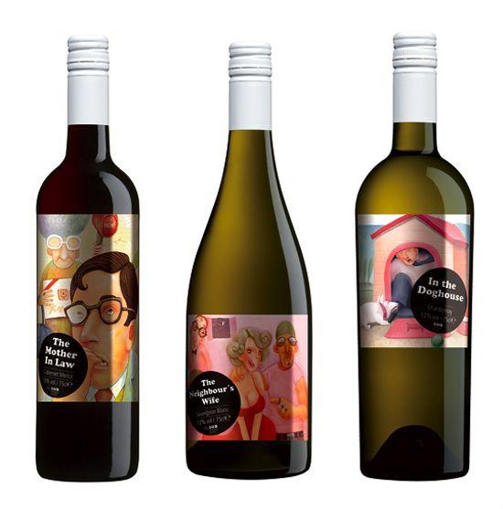 Wine label design... wine branding with humour | \