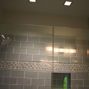 Square Recessed Lighting In The Shower Adds A Modern Touch