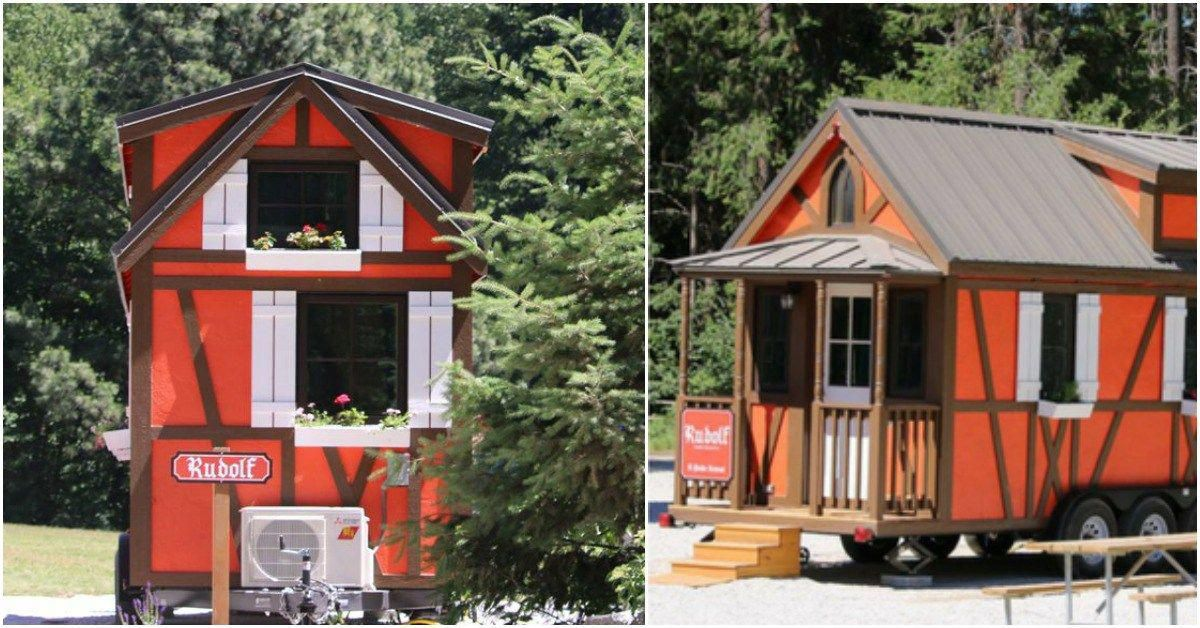250 square foot rudolf rental at leavenworth tiny house village rh pinterest com