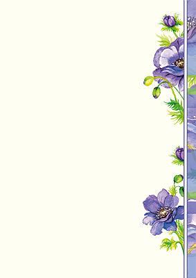 #PC #Briefpapier mit gemalte #Anemonen