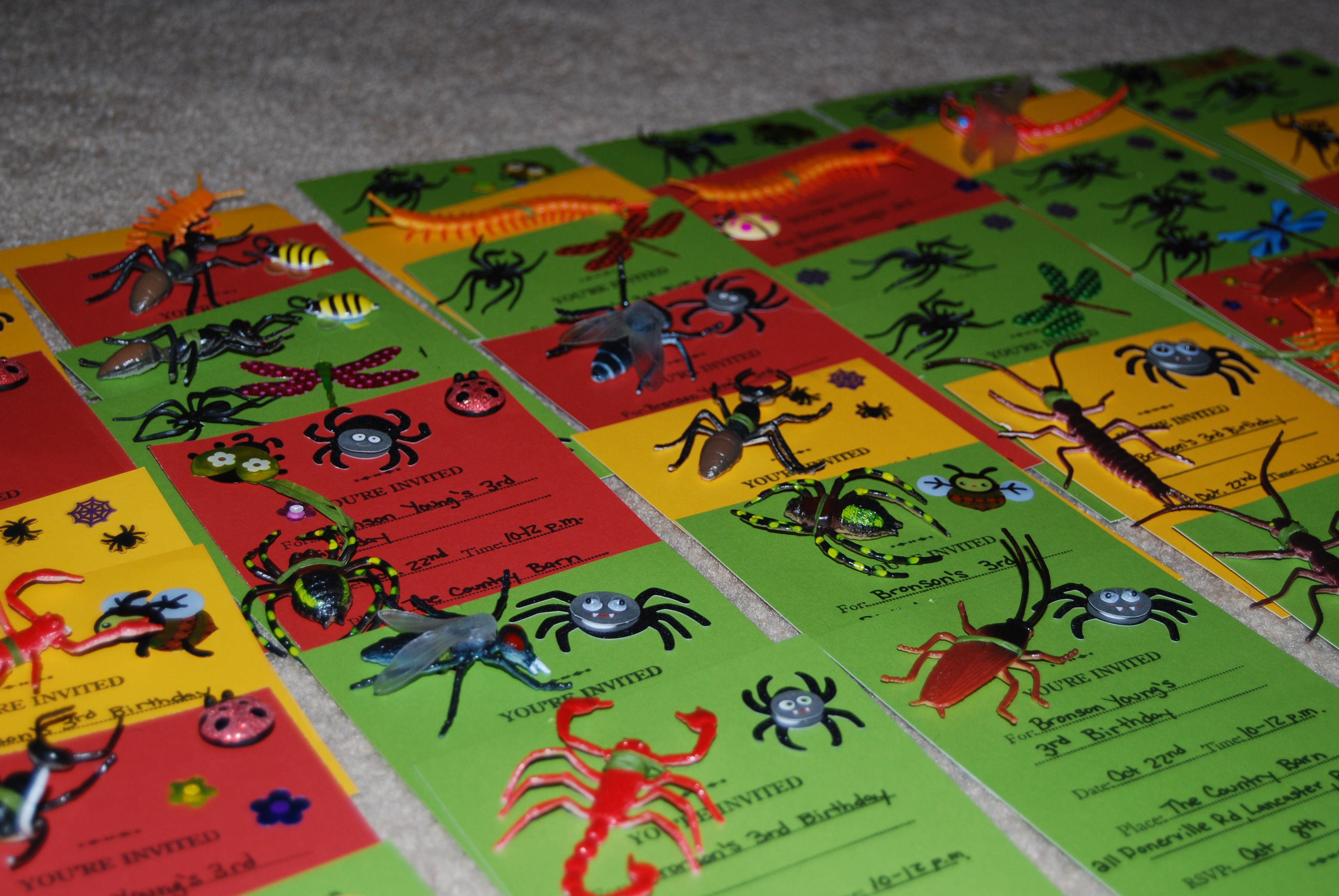 kids insect party Bug Party Invitations