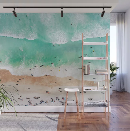 """Beach Mood"" Wall Mural by Gal Design on Society6 