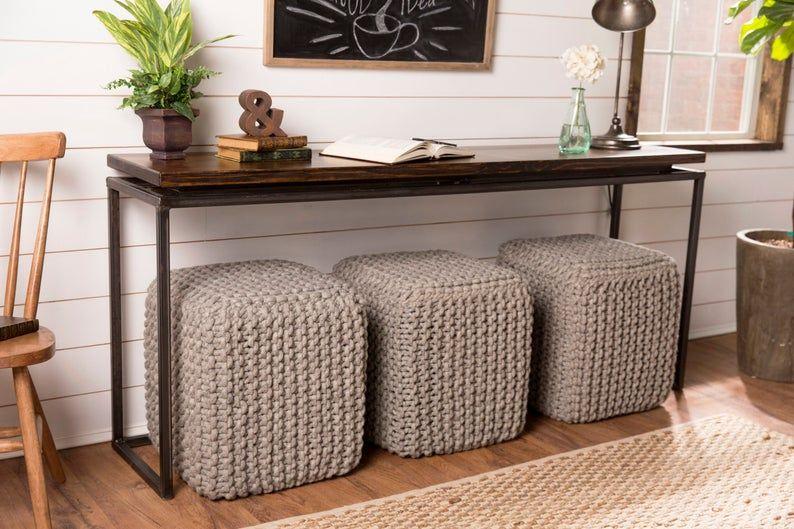 Console Flottante De Table De Base En Acier Superieur In 2020 Sofa Table Design Cheap Sofa Tables Room Furniture