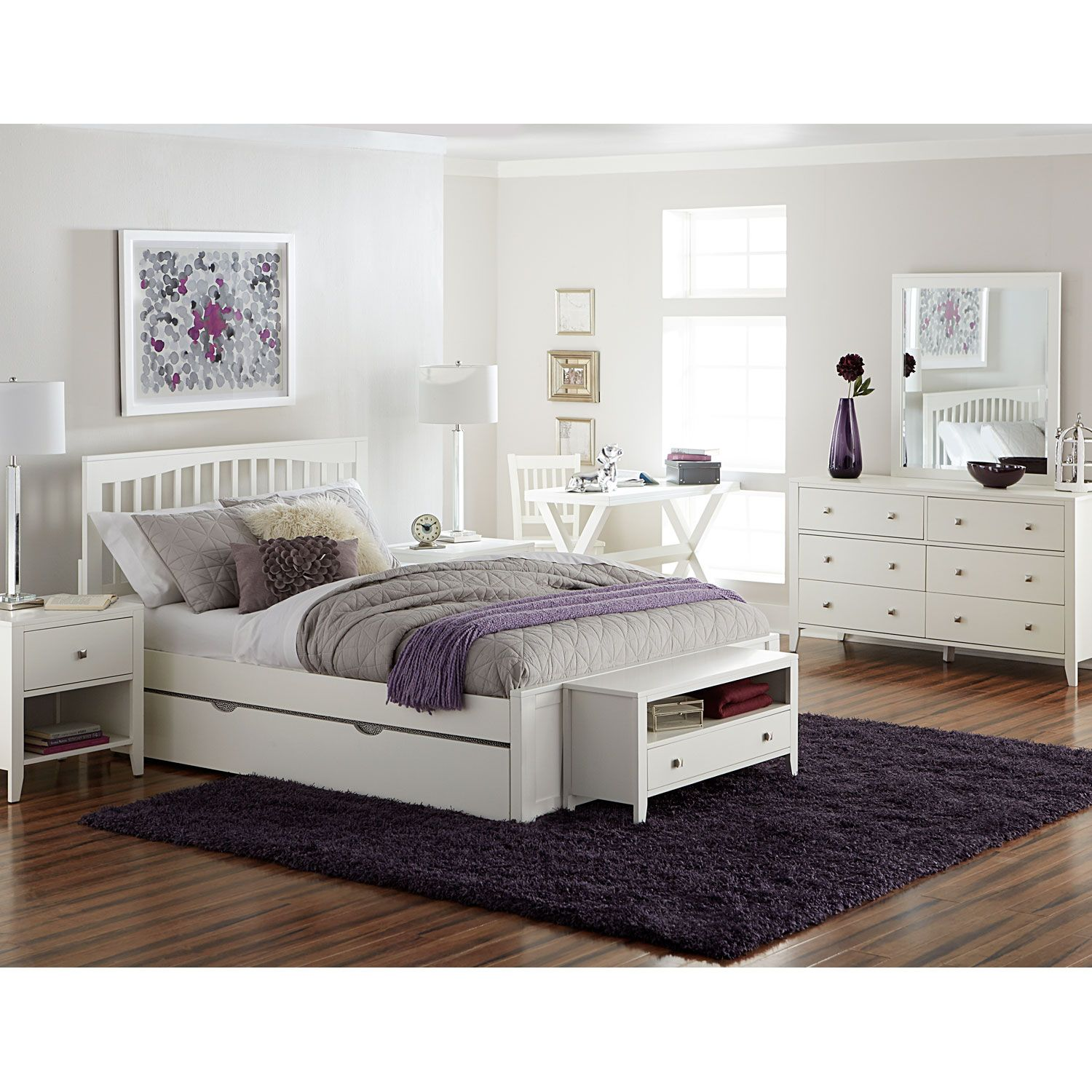 pulse white queen mission bed with trundle ne kids standard standard rh pinterest com