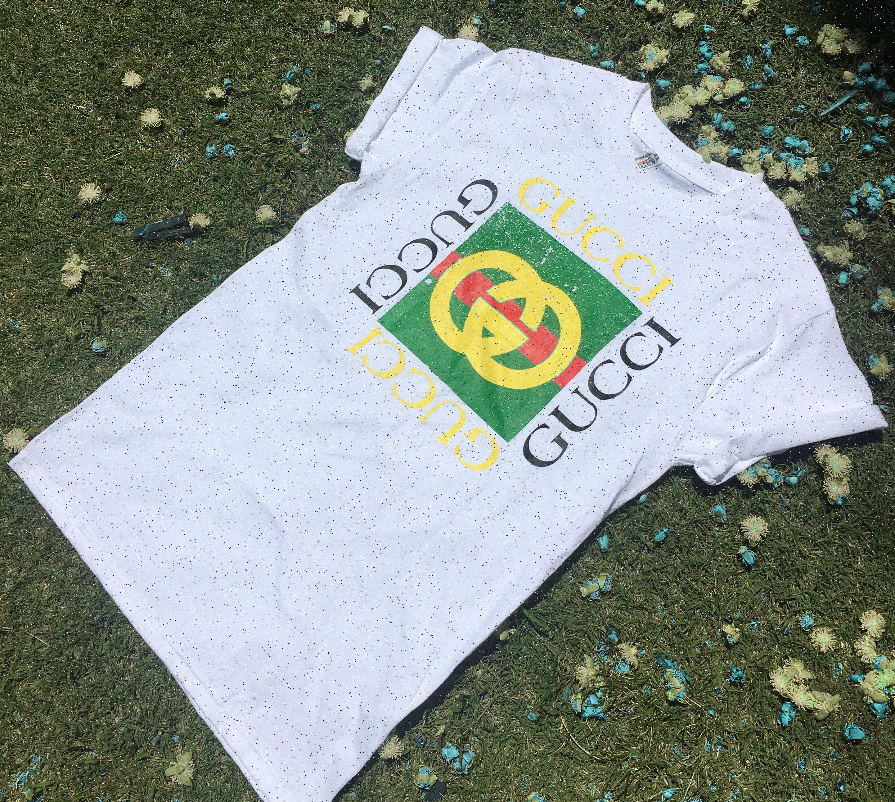 Vintage Gucci Bootleg T Shirt Vintage Gucci Shirts Gucci
