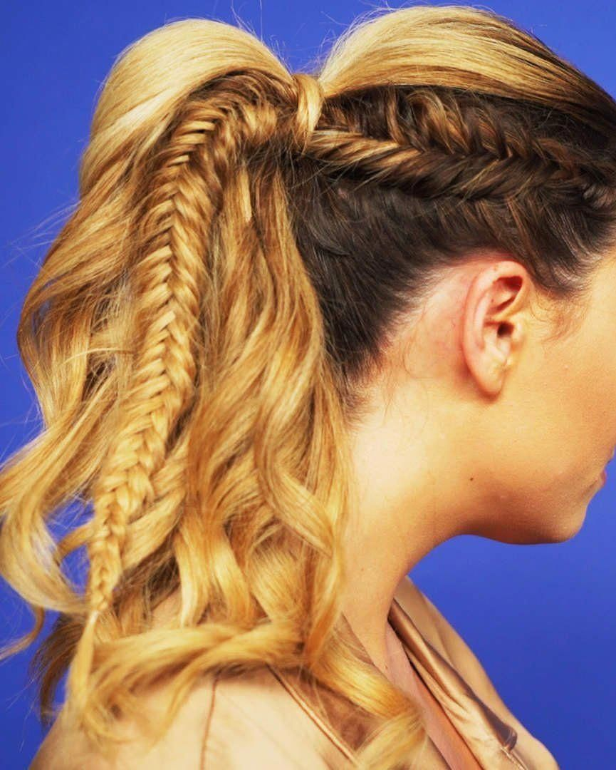 This Dreamy Fishtail Braid Ponytail Is The Boho Hairstyle You Need ...