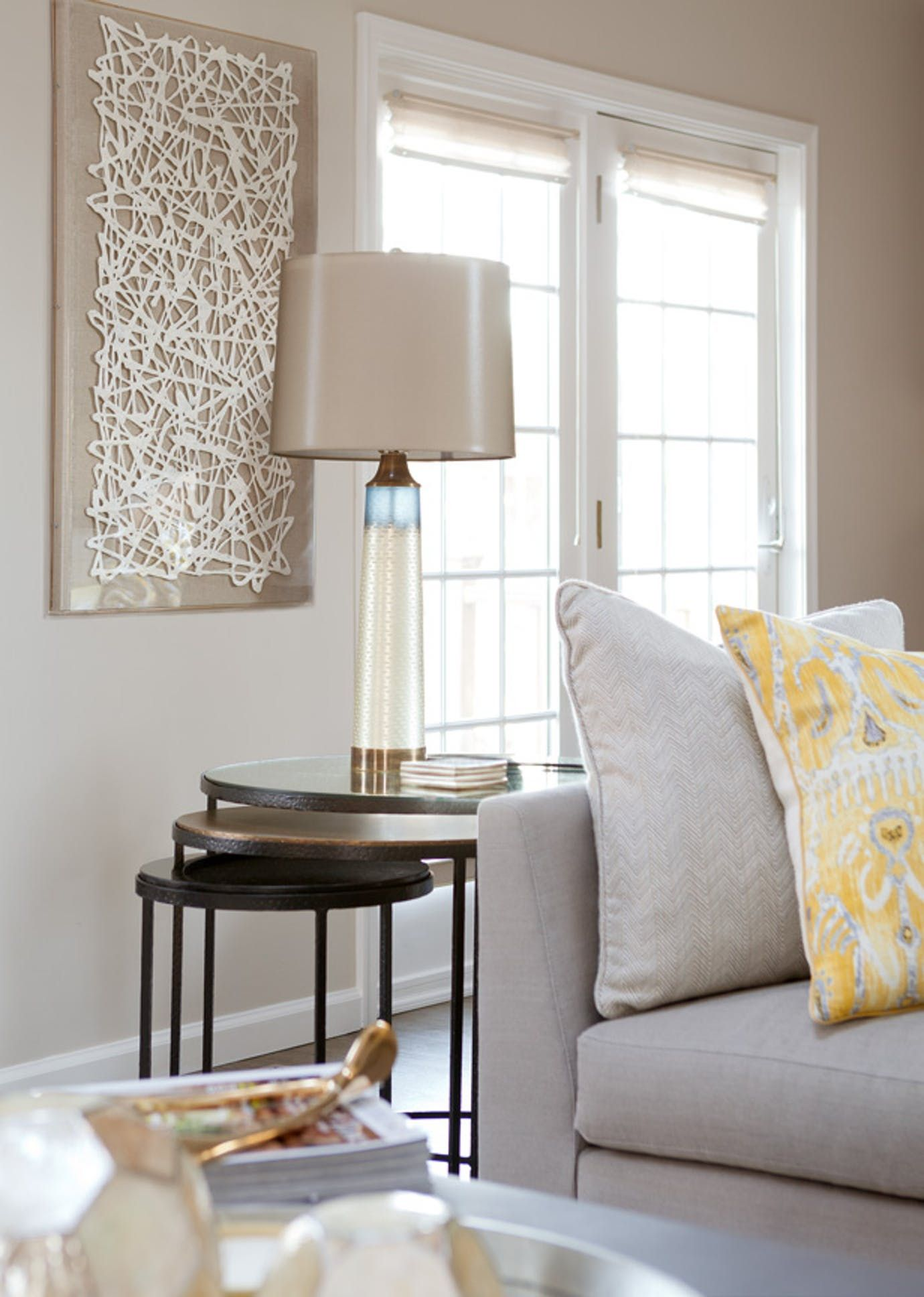 Private Residence Family Room Living Vignette Contemporary