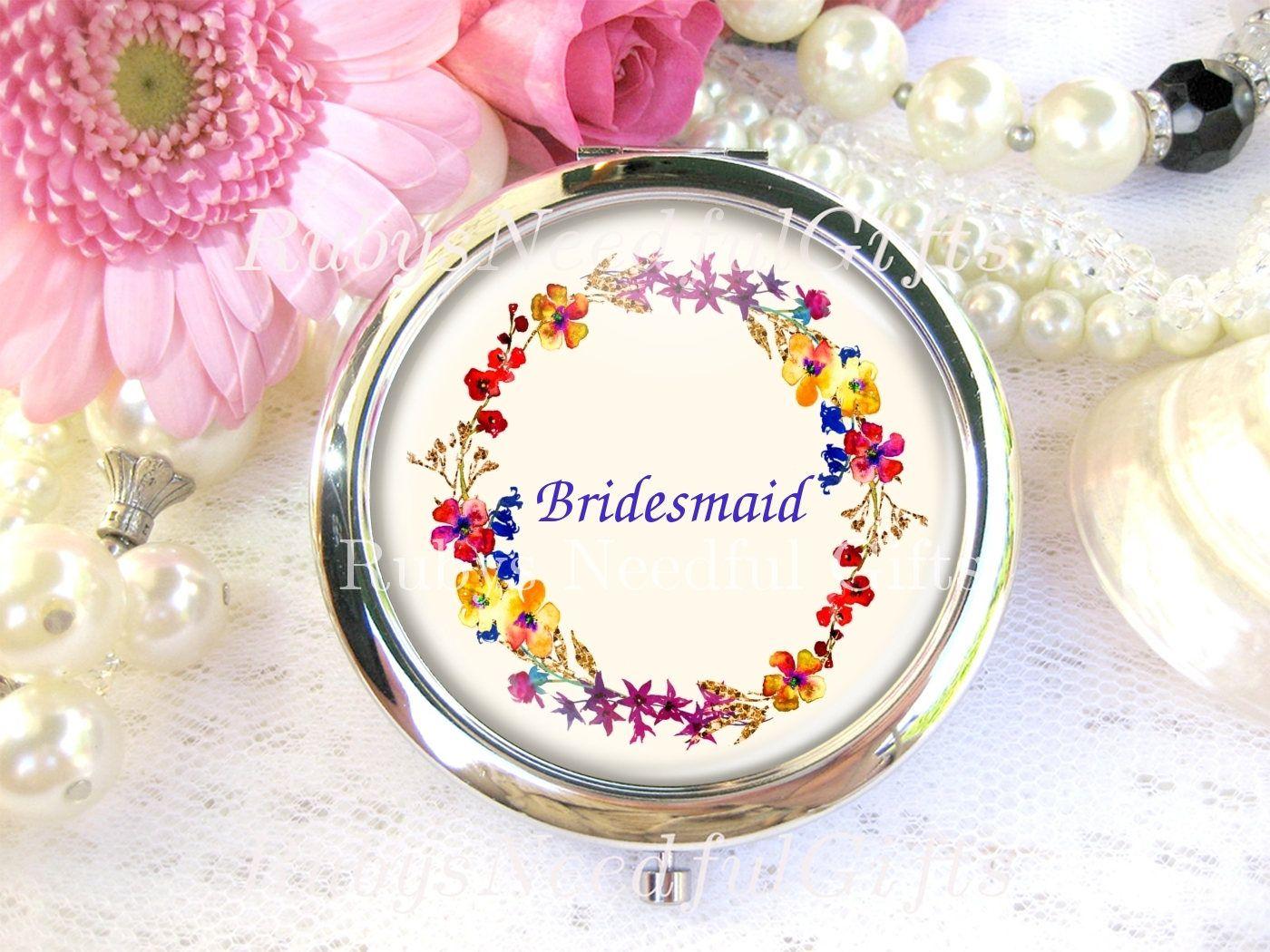 Silver Compact Mirror, cosmetic, handbag or purse mirror ...