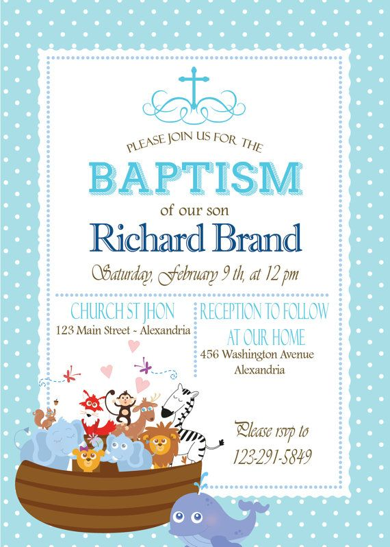 baptism invitation noah s ark printable invitation noah s ark