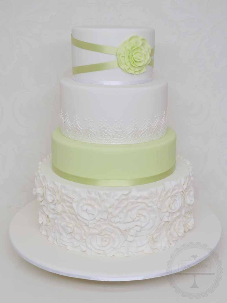 Delicate green cake u cupcakes ideas pinterest wedding cake