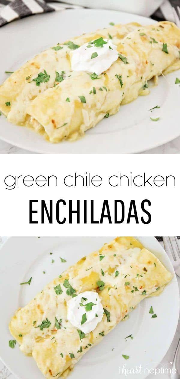 Photo of Green Chile Chicken Enchiladas – I Heart Naptime