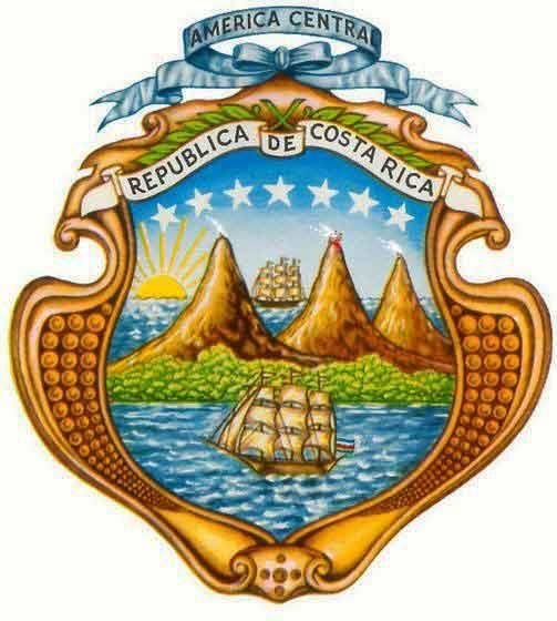 El Escudo Nacional De Nuestro Pais El Escudo De Costa Rica Fue Promulgado El 29 De Septiembre De 1848 Junto Con Costa Rica Flag Costa Rica Facts Costa Rica