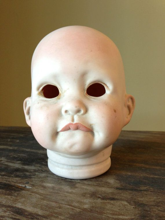 Vintage Porcelain Doll Head Creepy
