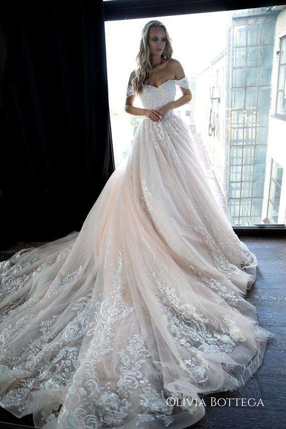 Off shoulder ball wedding dress Sheldon by Olivia