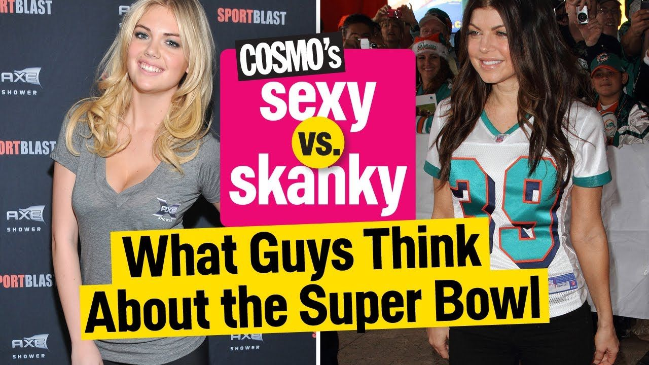 Social Groups Views From Cosmopolitan  - Not only do guys have trouble accepting that a female can know as much or like a sport like football as much just because it is predominantly a male sport. They also have issues with what girls wear to Super Bowl parties and judge their interest on sports based on it.