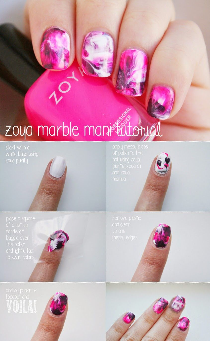 Marble Nail Art Without Water Entertainment News Photos Videos