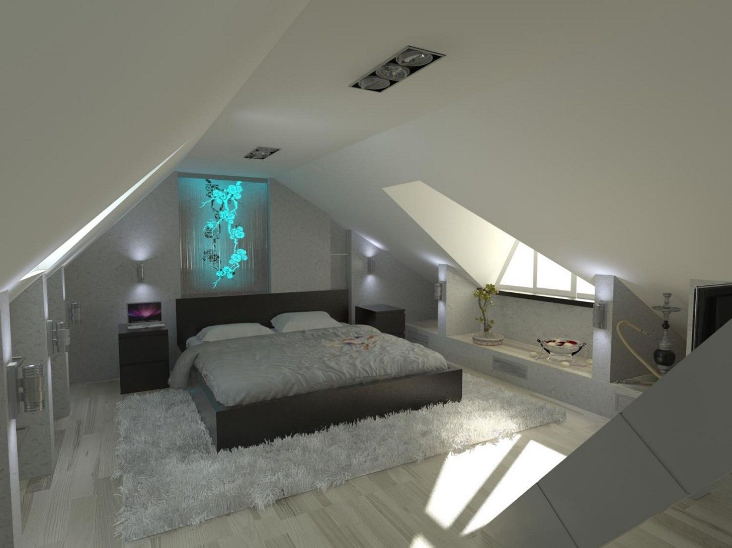 Cool Attic Bedroom Paint Ideas Attic Bedroom