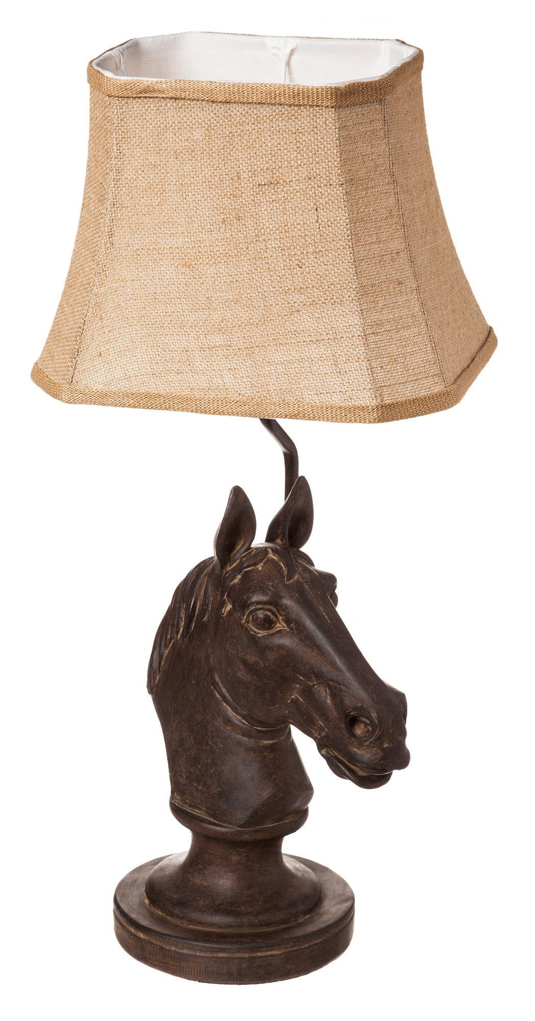 "Evergreen Enterprises, Inc Resin 25.5"" Horse Head Table Lamp"