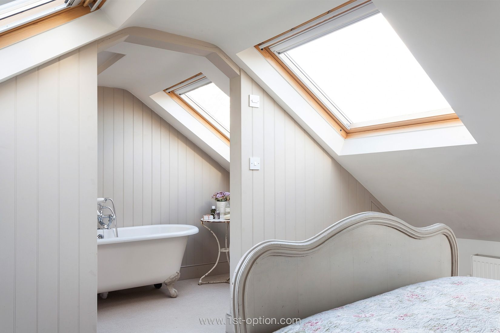 Bedroom with loft ideas  Porcelain  Film and Photoshoot Location in London  st Option