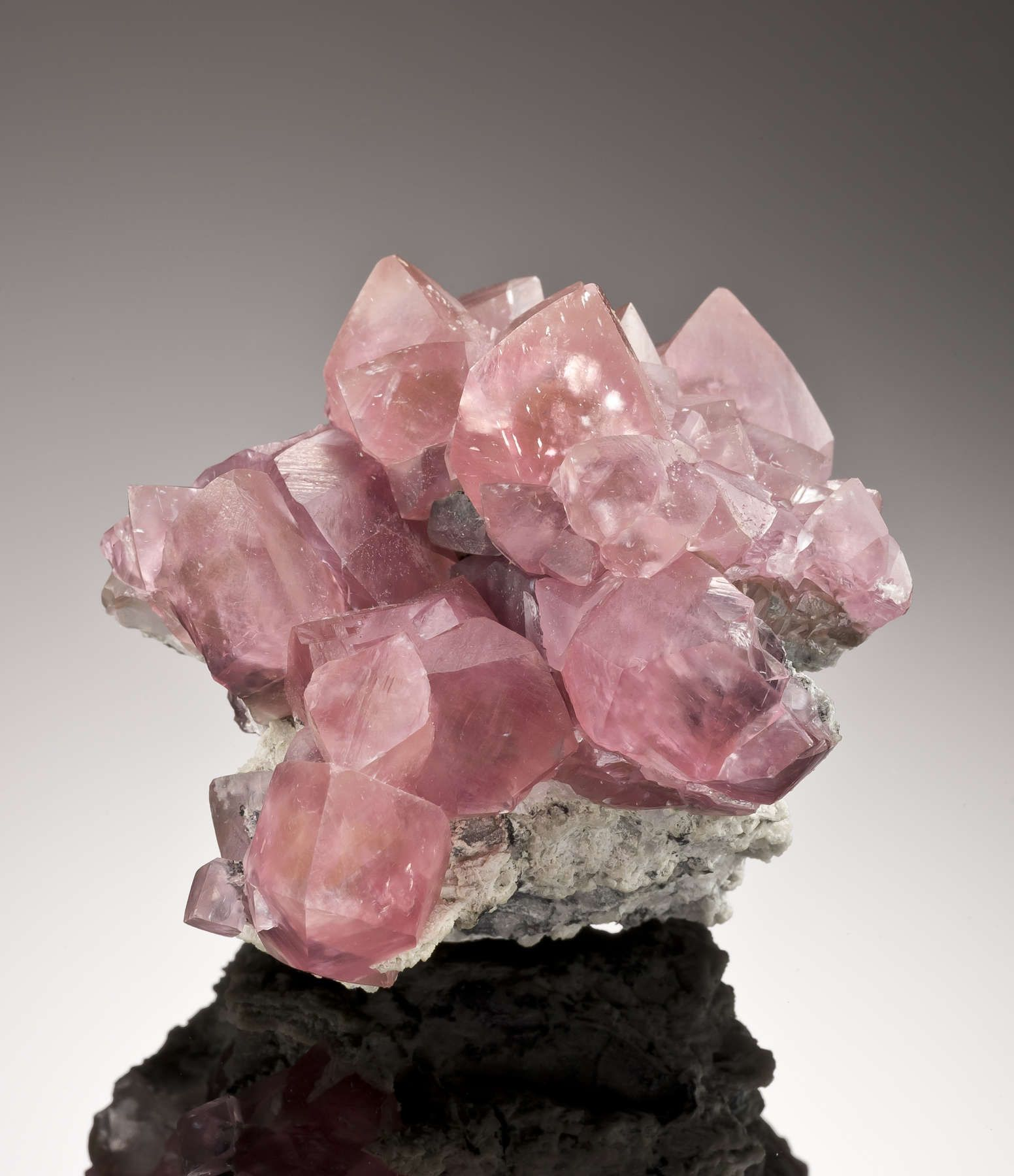 Sharp crystals classic soft pink smithsonite like Tsumeb late 1960s