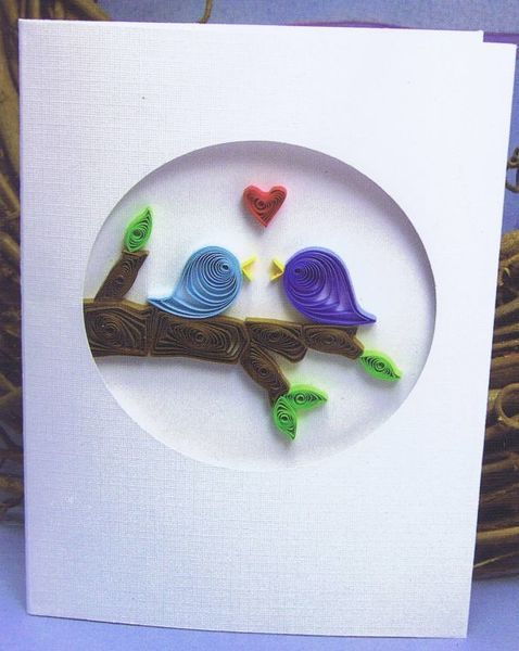 This cute Love Birds greeting card kit is sure to make a big impression on the lucky recipient.