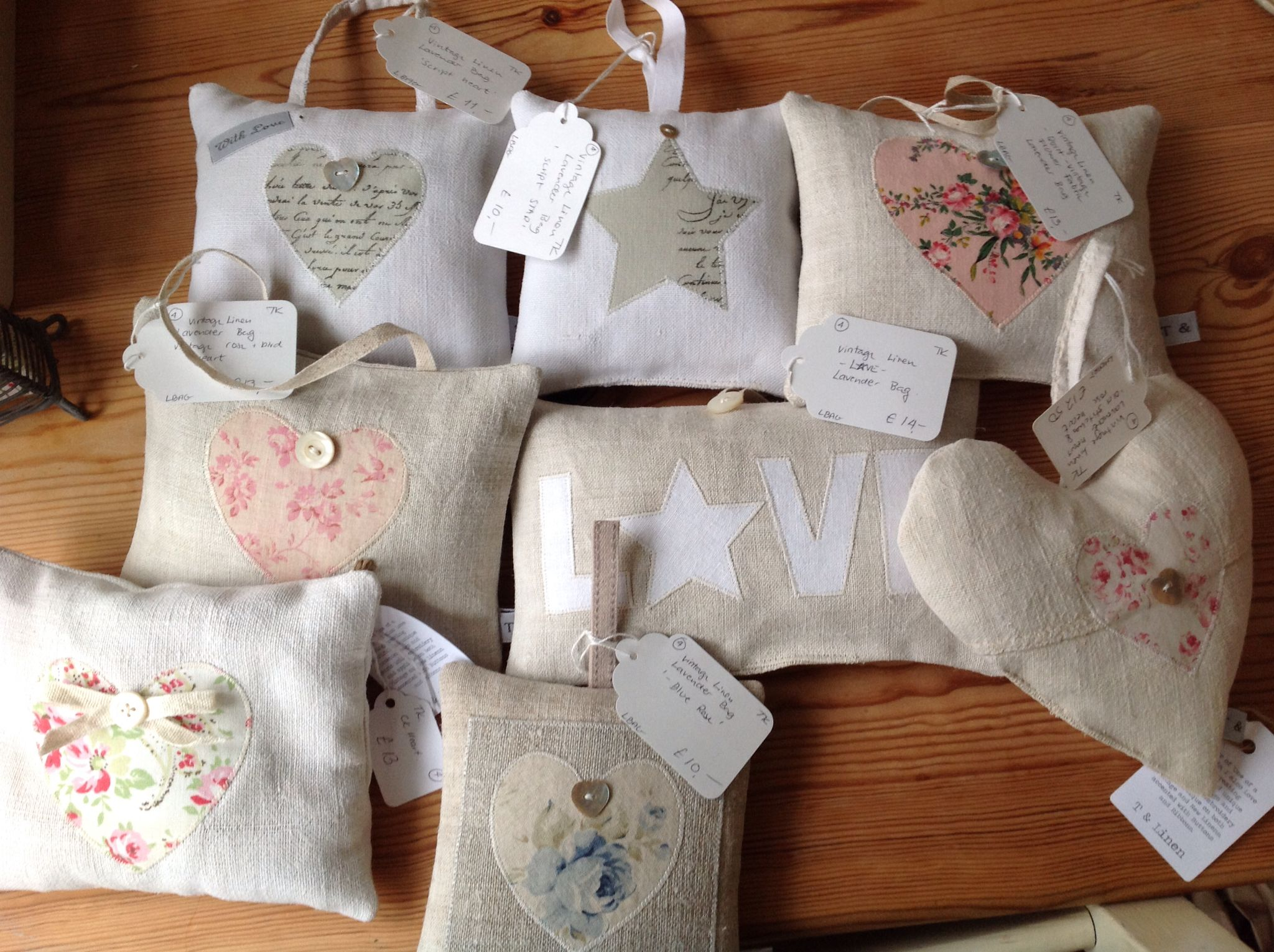 Lavender hearts and bags by me.