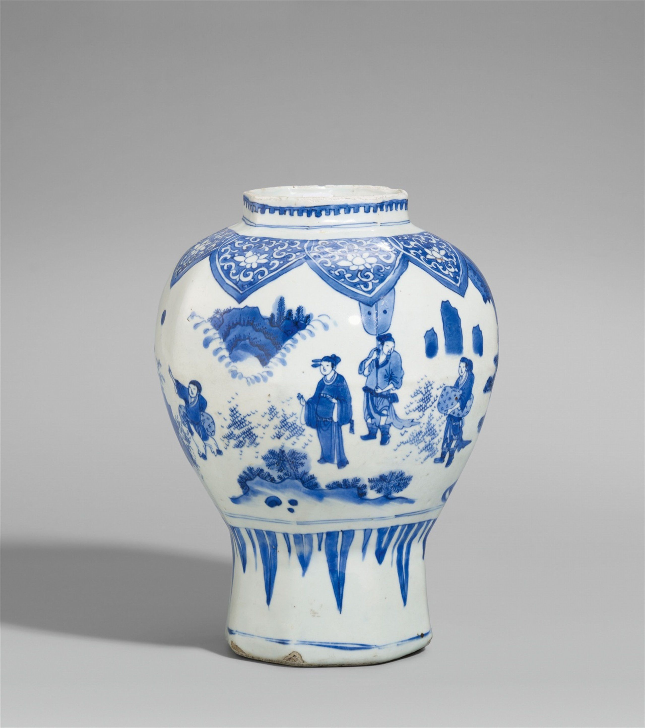 A blue and white octagonal baluster vase transitional period a blue and white octagonal baluster vase transitional period 17th century reviewsmspy