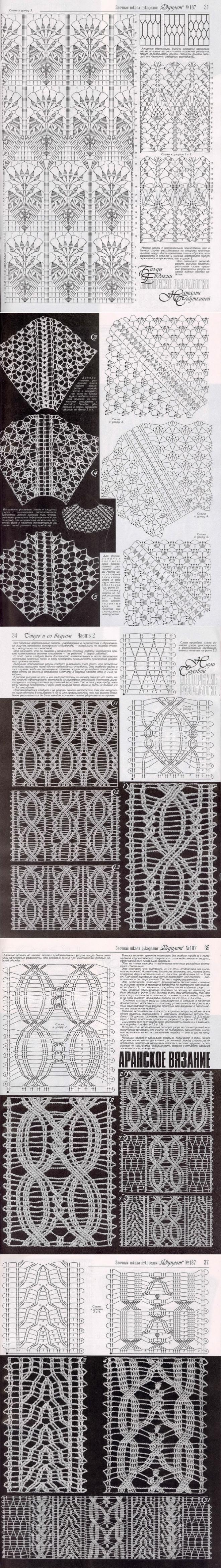 ВЯЗАНИЕ КРЮЧКОМ   Graficos crochet   Pinterest   Esquina, Ganchillo ...