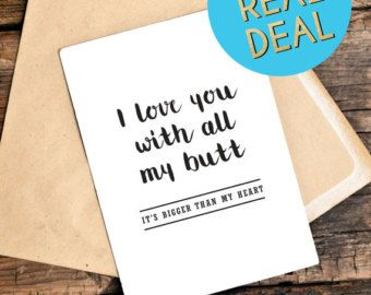 Funny cards funny love you card funny by thelittlepiper on etsy