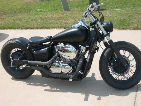 Moto Custom Honda Shadow Custom Bobber Spirit E Black Spirit Old