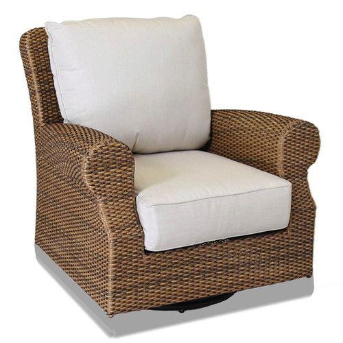 Sunset West Santa Cruz Swivel Wicker Patio Rocking Chair   Donu0027t Let Its  Traditional Look Deceive You: The Sunset West Santa Cruz Swivel Wicker Patio  ...