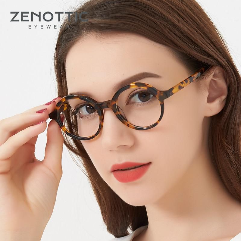 c8a872781197 Retro Optical Glasses Women Round black Tortoise Horn Rimmed Glasses Frame  Clear Lens Gafas Vintage Johnny