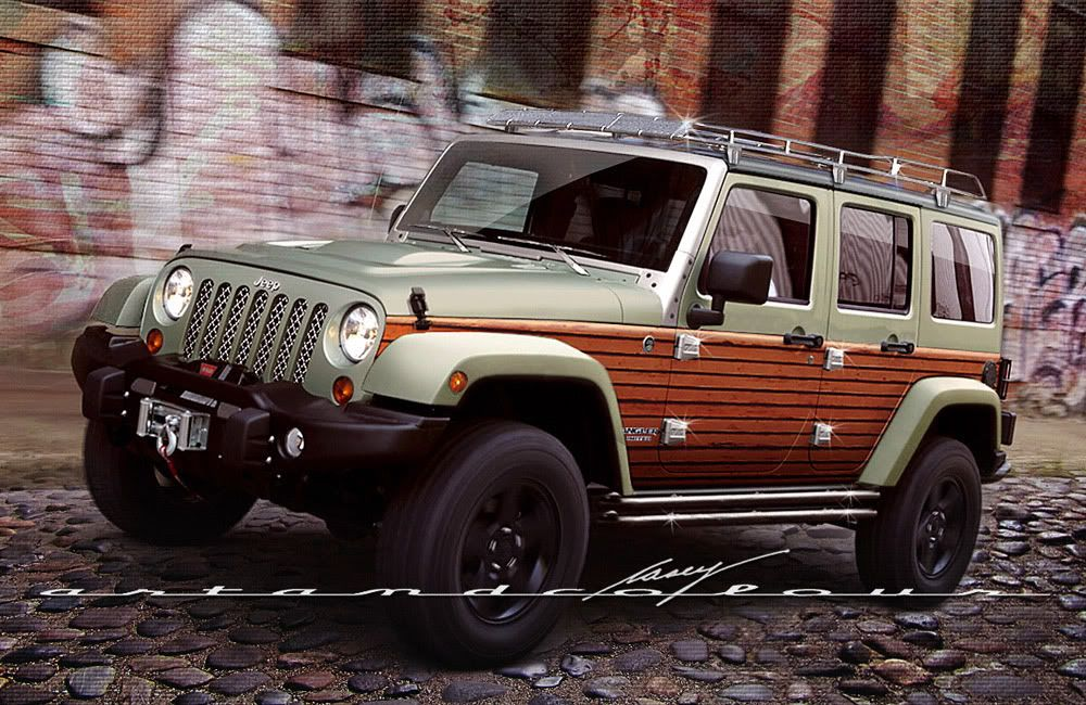 Wood Panel Jeep WB Designs - Wood Panel Jeep WB Designs