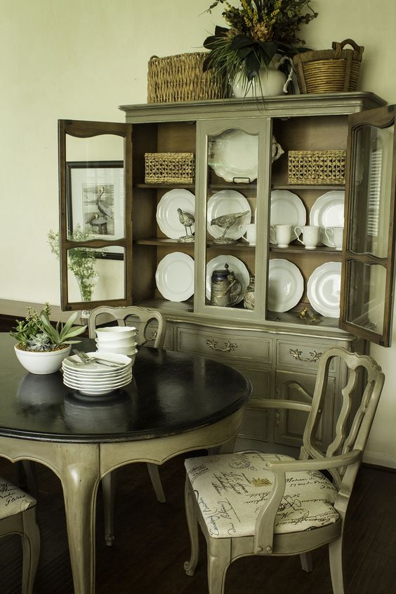 Hutch Makeover Chalk Paint Dining Rooms