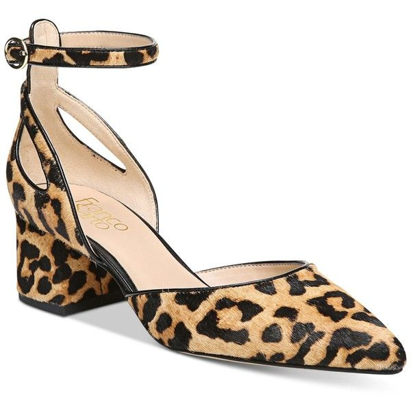 Franco Sarto Caleigh d´Orsay Leopard Print Brahma Hair Pumps