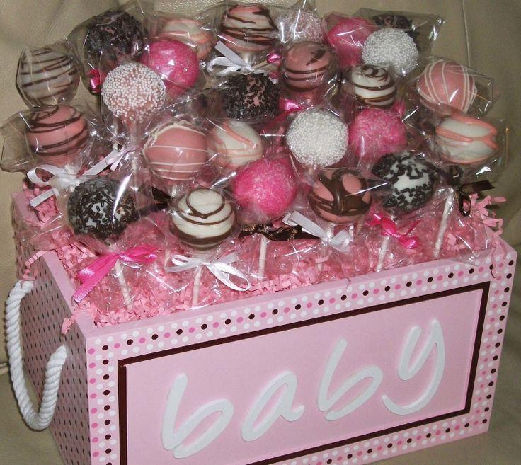 cake pops baby shower cake popsbaby girl