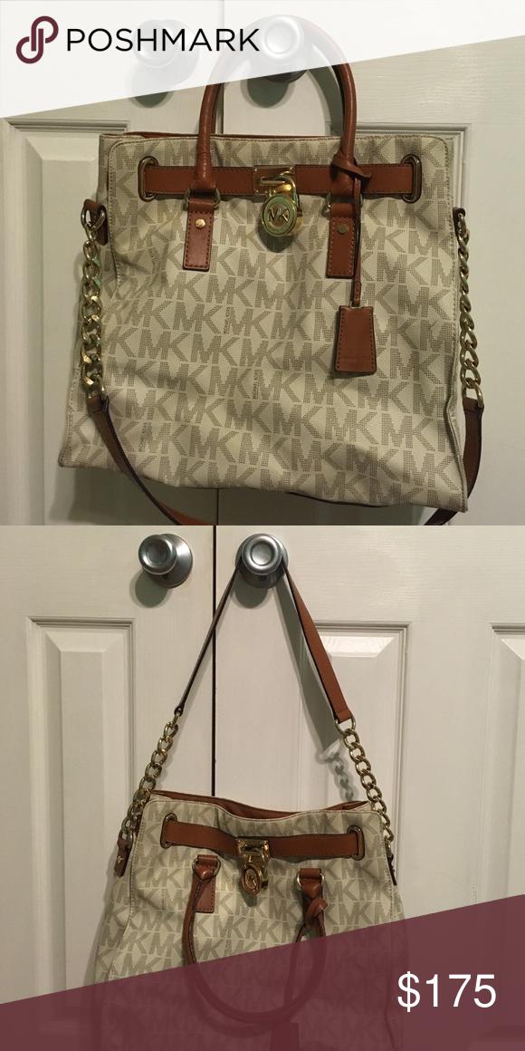 Cream color MK bag Big bag Michael Kors Bags Totes