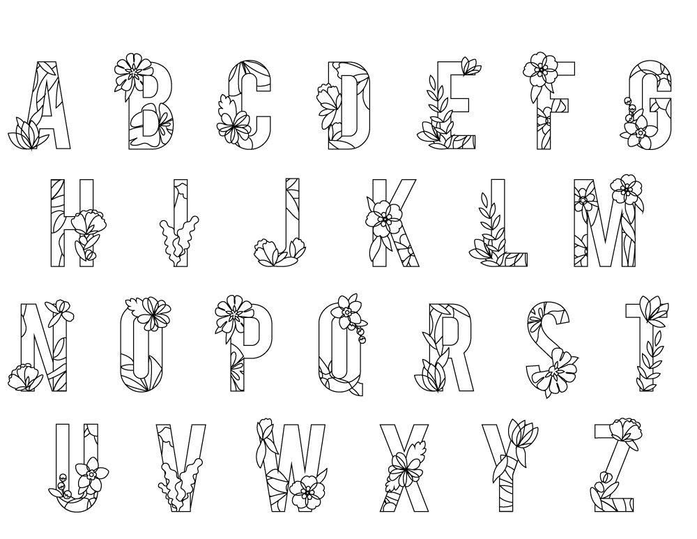 Lettre Alphabet Printemps A Imprimer Letter Stencils