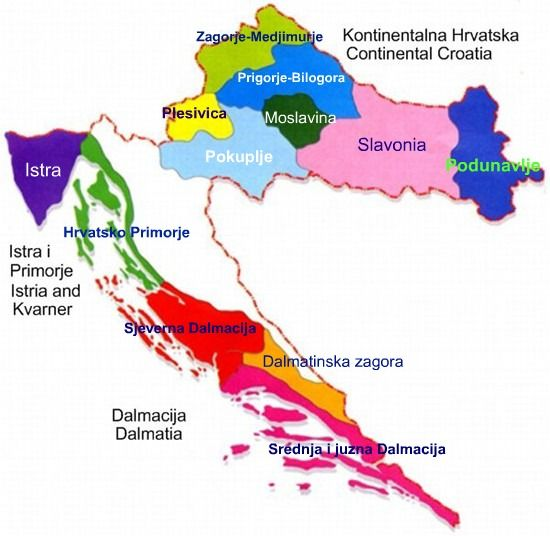 Regions In Croatia (With images) Wine map, Croatian wine
