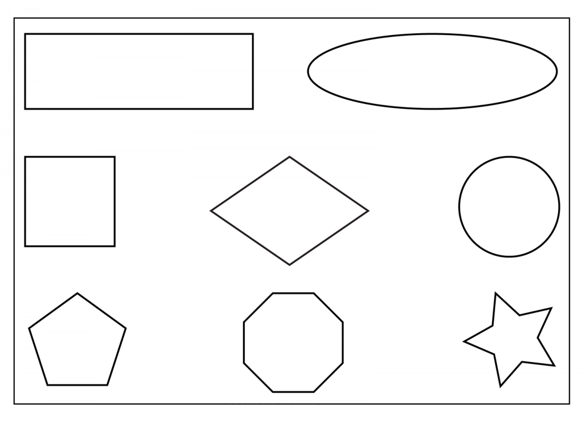 printable preschool worksheets shapes tagged with diamond shape ...