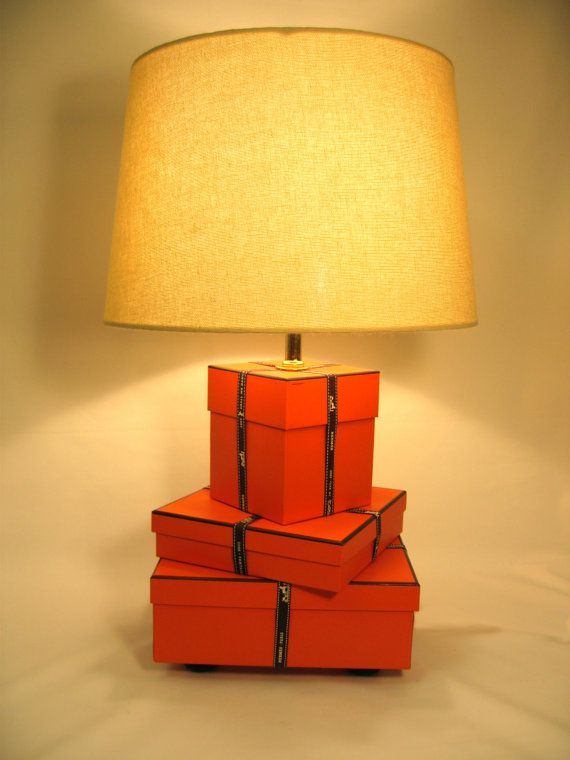Hermes Hermes Lamp Orange Lamp Hermes Gift Boxes And Ribbon Hermes Box Silk Lamp Shade On Etsy 415 24 Aud Orange Lamps Silk Lampshade Lamp Shade