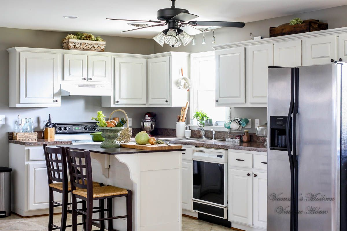 White kitchen remodel in one weekend by