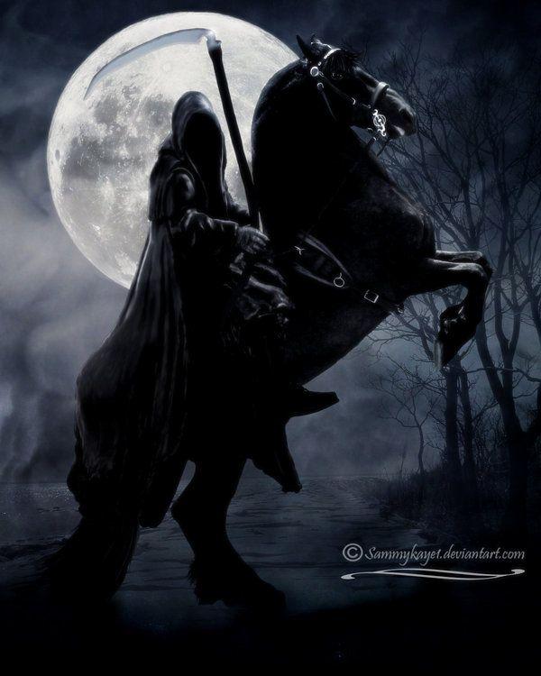 The Pale Rider Porter | Grim reaper, Grim reaper art, Pale rider