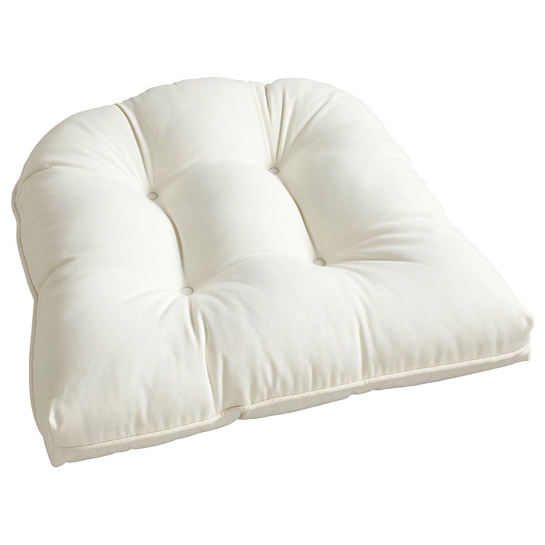 Tufted Standard Contour Chair Cushion In Cabana Cream Cushions