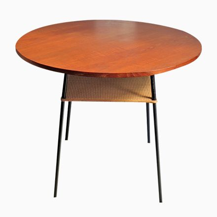 Mid-Century Teak, Rattan  Metall Tisch Jetzt bestellen unter